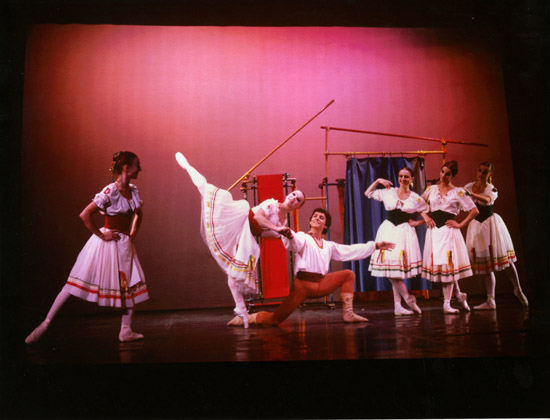 1977-COPPELIA-Christine Lassavageux & Francis Pedros-photo: Roy Round