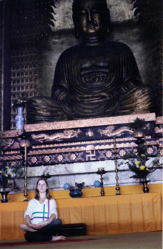 ASIA – Natalie Mai meditating in Taiwan