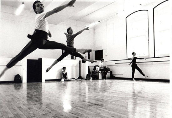 Dance Centre in London- Stephen Brennan & Darius James rehearsing The Magic Flute 1989 – photo: Suzanne Board
