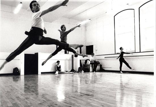 Dance Centre in London- Stephen Brennan & Darius James rehearsing The Magic Flute 1989 – photo: Suzanne Board