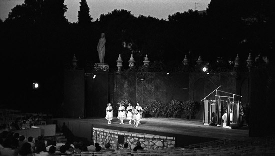 FRANCE Open air performance of 'Coppelia' in Nice- photo: Geoff Howard