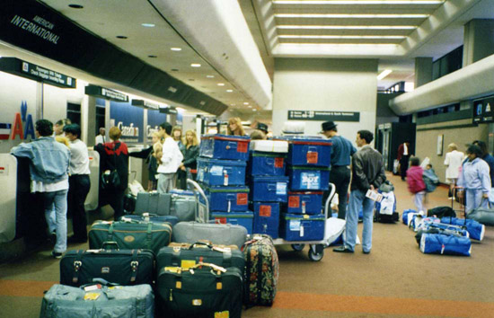 USA – checking-in